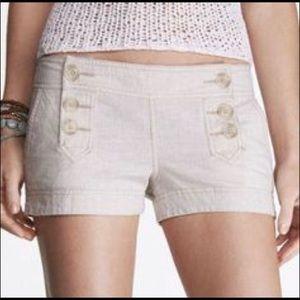 Express Khaki Linen Blend Sailor Shorts